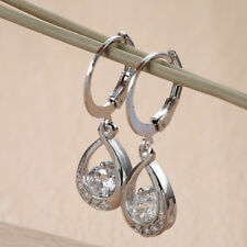 A pair Fashion Water earrings Studs Dangle Hoop Earring Women Silver Jewelry