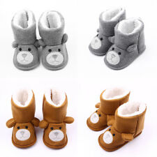 Baby Girl Knit Bear Winter Warm Boots Booties Infant Toddler Snow Slippers Shoes