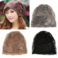 Women's Lace Floral Chemo Hat Beanie Turban Headwear for Cancer Patients