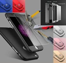Hybrid 360 Hybrid  Tempered Glass Thin Case Cover For iPhone X 8 8Plus 7 7 Plus