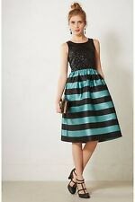 NEW Anthropologie Leifsdottir Starlit Stripes Dress Size 4
