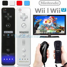 Built in Motion Plus Remote & Nunchuck Controller & Case For Nintendo Wii &Wii U