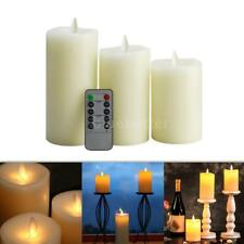Electric Flameless LED Candle Light Timer Atmosphere Lamp & Remote Control K3W5