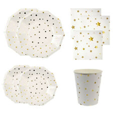Hot Cups Disposable Plates Tableware Paper Napkins Lovely Gilding Party Supplies