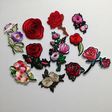 Patches Rose Flower Patch DIY Clothes Sticker Embroidery patch Cloth Accessories