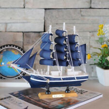 Handcrafted WOODEN SHIP MODEL Sailing Boat Tall Ship Christmas Nautical Gift