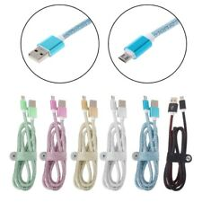 Micro USB Data Fast Charging Faux Leather Cable For Android Phone Samsung HTC LG
