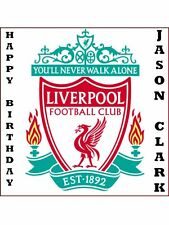 "8"" SQUARE LIVERPOOL CAKE TOPPER PERSONALIZED EDIBLE PHOTO ICING SHEET ITEM 816"