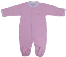 Kissy Kissy Footed one piece - pink with heart stitch - 6-9m