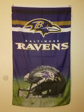 Baltimore Ravens NFL Official Flag Banner 3' X 5' Indoor/Outdoor Brass Grommets
