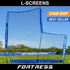 FORTRESS Baseball 7' x 7' L-Screen Practice Screens | Baseball Safe Backstop Net