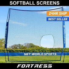 FORTRESS Baseball/Softball 7' x 7' Pitching Backstop Net | Protection Screen