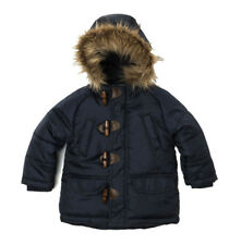 Baby Toddler Boys Padded Parka Puffa Jacket Coat Navy (12 Months - 3 Yrs)
