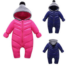 Newborn Baby Girls Boys Romper Winter Hooded Down Outerwear Snowsuit Outfits
