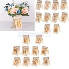 20pcs/10 Sets Double Side Wooden Table Numbers Free Stand Party Table Decoration