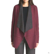 NWT $338 Eileen Fisher Felted Merino Dbleknit PASSION FLOWER Long Jacket XL