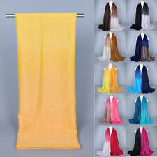 Fashion Scarves Lady Gradient Color Long Wrap Women's Shawl Voile Scarf NEW