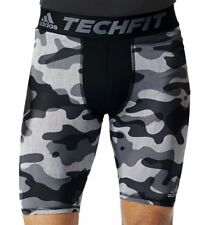 "New adidas Techfit baselayer compression 9"" Short Tight Sz S to 2XL Camo print"