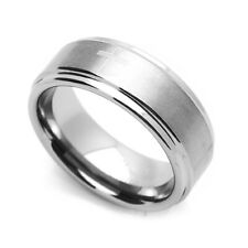 Men 8MM Comfort Fit Tungsten Carbide Wedding Band Cross Engraved Flat Ring