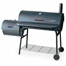 BBQ Grill Smoker Deluxe Charcoal Offset Cool-Touch Handles 1,280 Sq. In. Cooking