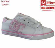 New DC Shoes Girls Y'S Journal SE Sneaker Trainers Skate Casual White Size 5 6
