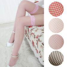 Ladies Lace Socks Top Fishnet Stay Up Thigh High Stockings Clubwear Socks