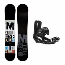 Millenium 3 Discord Black Stealth 3 Snowboard and Binding Package 156c NEW