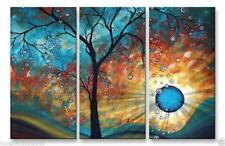 MODERN ABSTRACT HUGE WALL ART OIL PAINTING ON CANVAS,Tree 3PC(no framed)