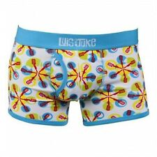 NEW MENS LUIS & JUKE COOL WHITE CLASSIC OPEN FLY FITTED STEVIE BOXERS IN 3 SIZES