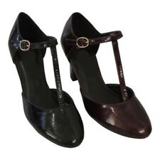 New Retro Vintage Style 1930's 1940's WW2 Wartime T-Bar Mary Jane Court Shoes
