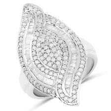 1.20 ct Genuine Diamond Wedding Bridal Engagement Ring in 925 Sterling Silver