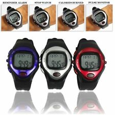 Pulse Heart Rate Monitor Calories Counter Fitness Watch Time Stop Watch Alarm SW
