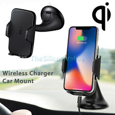 Fast Qi Wireless Car Charger Mount Holder for Samsung Galaxy S8 Plus iPhone 8/X