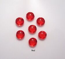 Edible Diamond Jewel Sugar Gems Cake Decoration-0.6 cm Handmade - Red