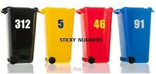 "2 x Wheelie Bin Numbers Stickers Self Adhesive Stick On.sticky numbers 6"",,"