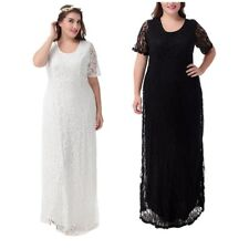 Plus Size 12-16 Womens Lace Gown Wedding Maxi Long Dress Evening Party Cocktail
