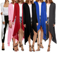 Women Fashion Ladies Long Sleeve Irregular Cardigan Open Blouse Tops Thin Coat