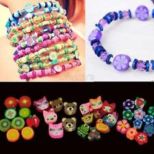 100 PCS Clay Beads DIY Slices Mixed Color Fimo Polymer Clay LFSZ 02