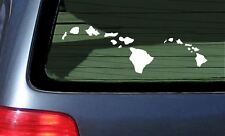 Hawaiian Islands of Hawaii Island Vinyl Decal Sticker Aloha Two Sizes Included