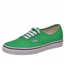 VANS AUTHENTIC BRIGHT GREEN BLACK SHOES TRAINERS GREEN BLACK VN-0 qer144