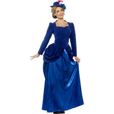 Adult Deluxe Victorian Nanny Mary Ladies Edwardian Fancy Dress Costume 43420