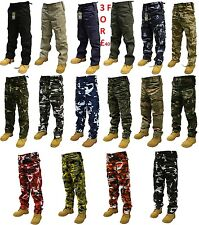 "CAMOUFLAGE COMBAT TROUSERS MULTIPOCKET ARMY CARGO CAMO MILITARY  PANTS 28""-56"""