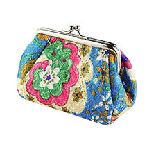 Womens Elegant Coin Purse Flower Design Pouch Wallet Money Bag Handbag