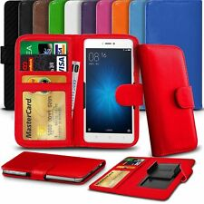 "Clamp Style Premium Flip Leather Wallet Case Cover For Amigoo MG100 (5.5"")"