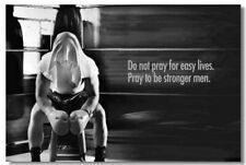 Poster Bodybuilding Men Girl Fitness Workout Quotes Motivational Font Print 022