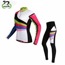 Comfortable Bicycle Jersey&Pants Set Long Sleeve Outdoor Women Cycling Clothing