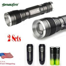 20000LM XM-L T6 LED 18650 Zoomable Flashlight Torch Lampdjustable Focus Light US