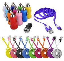 CABLE MICRO USB 5 PIN LOADER COLOR return CAR BLACKBERRY NOKIA HTC LG SONY