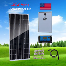100W 100Watt Solar Panel Kit with PWM 10A 12/24V Charge Controller off-Grid Boat
