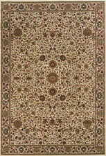 Ivory Traditional - Persian/Oriental Flowers Leaves Border Area Rug Floral 172W3
